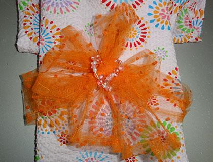 アクセサリーを添えて帯結びアレンジの例