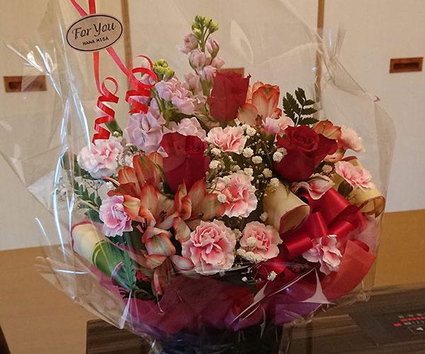 還暦祝いの花